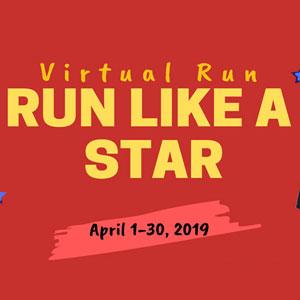 Run Like A Star Virtual Run Logo