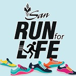 SAN Run for Life Logo
