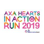 AXA Hearts In Action Run Logo
