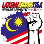 Larian Enam Tiga Virtual Run Logo