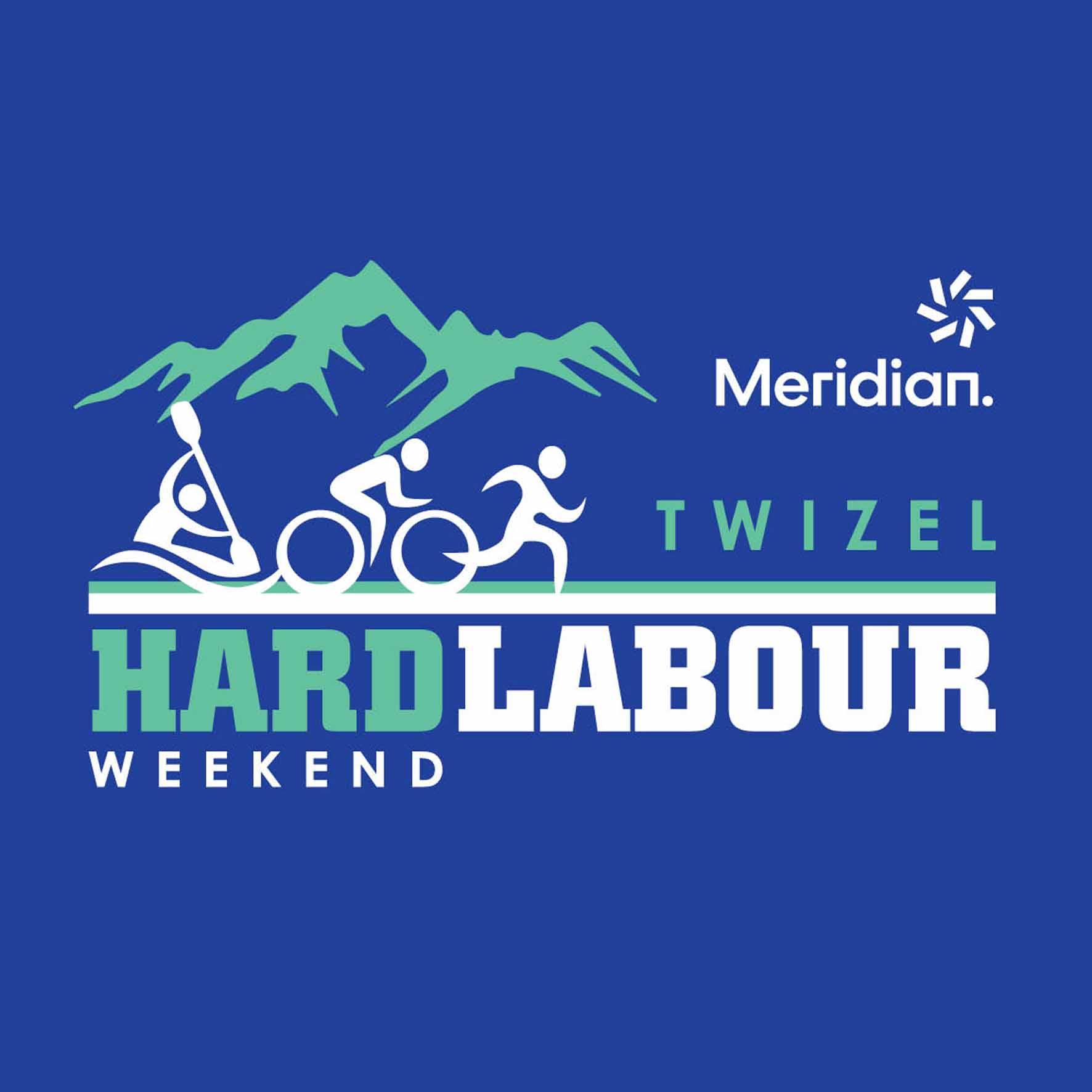 Meridian Twizel Hard Labour Weekend Logo